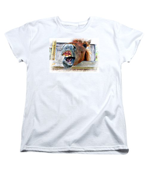 Women's T-Shirt (Standard Cut) featuring the photograph Nay Sayer by Aaron Berg