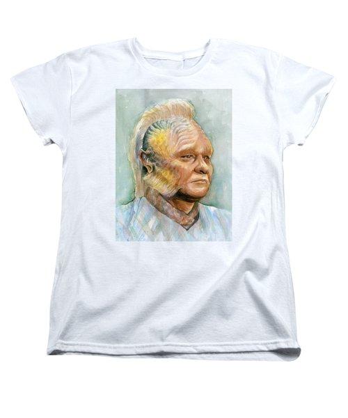 Neelix Star Trek Voyager Watercolor Women's T-Shirt (Standard Cut) by Olga Shvartsur