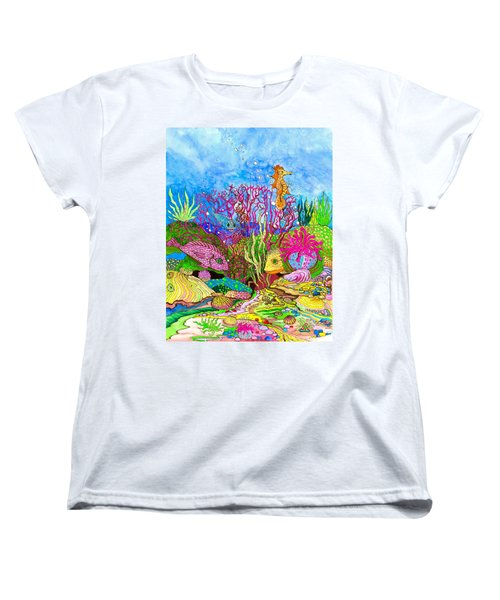 Neon Sea Women's T-Shirt (Standard Cut) by Adria Trail