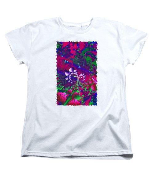 Nerd Berries Psychedelic Fractal Women's T-Shirt (Standard Cut) by Sharon and Renee Lozen