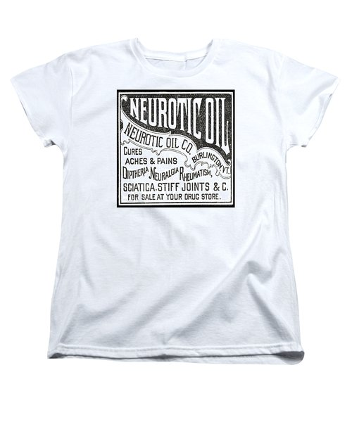 Neurotic Vintage Ad Women's T-Shirt (Standard Cut) by Marianne Dow