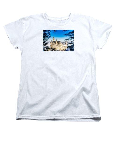 Neuschwanstein Castle Women's T-Shirt (Standard Cut) by Alpha Wanderlust