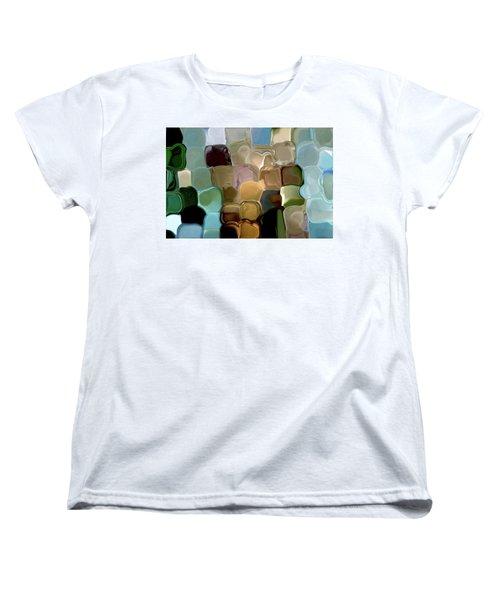 Neutrals In Light Abstract Women's T-Shirt (Standard Cut) by Haleh Mahbod
