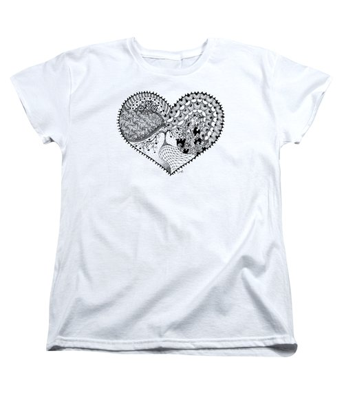 Women's T-Shirt (Standard Cut) featuring the drawing New Beginning by Ana V Ramirez