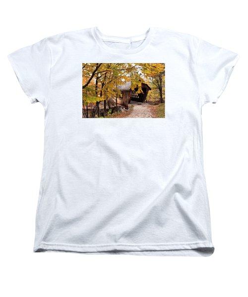 New England College No. 63 Covered Bridge  Women's T-Shirt (Standard Cut) by Betty Pauwels