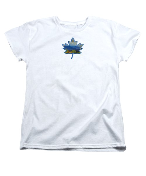 New Hampshire Maple Leaf Design Women's T-Shirt (Standard Cut) by Mim White