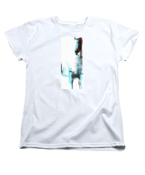 Women's T-Shirt (Standard Cut) featuring the painting New Mexico Horse Four by Frances Marino