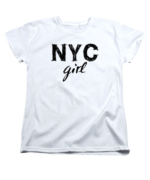 New York City Girl Women's T-Shirt (Standard Cut) by Wall Art Prints