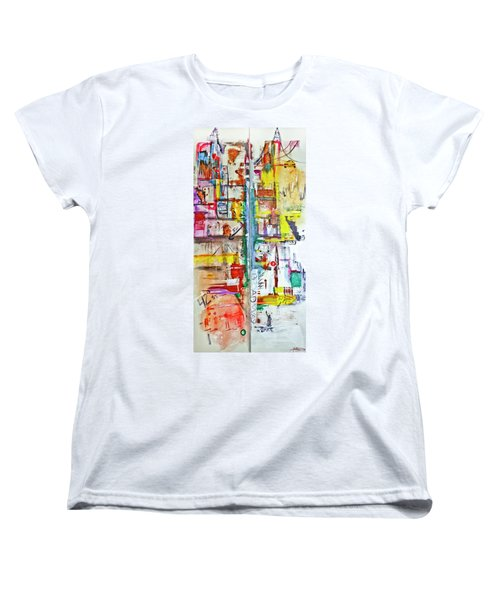 New York City Icons And Symbols Women's T-Shirt (Standard Cut)