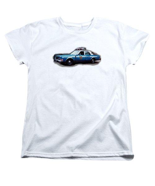 New York City Police Patrol Car 1980s Women's T-Shirt (Standard Cut) by Tom Conway