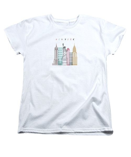 New York  Minimal  Women's T-Shirt (Standard Cut) by Mark Ashkenazi
