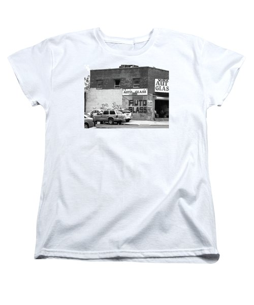 Women's T-Shirt (Standard Cut) featuring the photograph New York Street Photography 70 by Frank Romeo