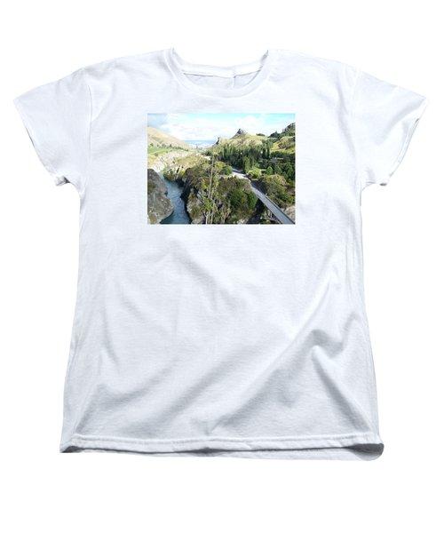 Women's T-Shirt (Standard Cut) featuring the photograph New Zealand Scene by Constance DRESCHER