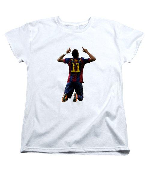 Neymar Women's T-Shirt (Standard Cut) by Armaan Sandhu
