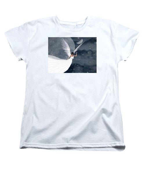 Night Angel Women's T-Shirt (Standard Cut) by Rosalie Scanlon