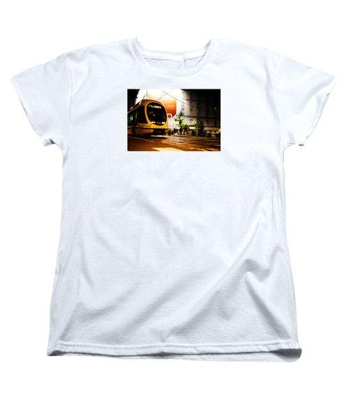 Night Walk In Milan Women's T-Shirt (Standard Cut) by Cesare Bargiggia