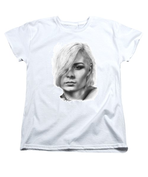 Nina Nesbitt Drawing By Sofia Furniel Women's T-Shirt (Standard Cut) by Sofia Furniel