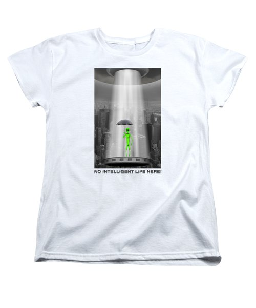 Women's T-Shirt (Standard Cut) featuring the photograph No Intelligent Life Here 2 by Mike McGlothlen