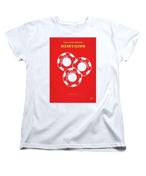 No056 My Oceans 11 Minimal Movie Poster Women's T-Shirt (Standard Cut) by Chungkong Art