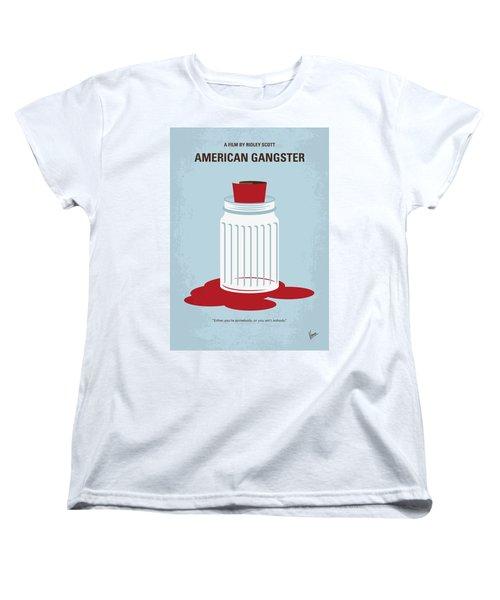Women's T-Shirt (Standard Cut) featuring the digital art No748 My American Gangster Minimal Movie Poster by Chungkong Art