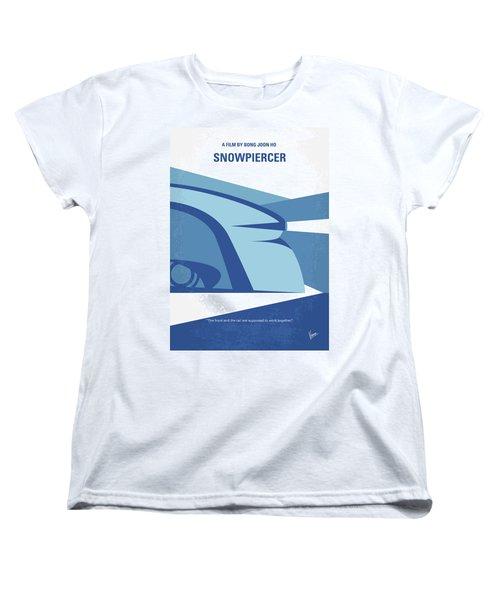 Women's T-Shirt (Standard Cut) featuring the digital art No767 My Snowpiercer Minimal Movie Poster by Chungkong Art