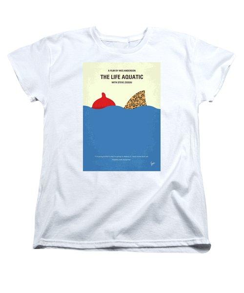 Women's T-Shirt (Standard Cut) featuring the digital art No774 My The Life Aquatic With Steve Zissou Minimal Movie Poster by Chungkong Art