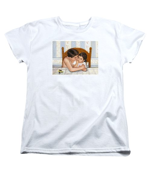 Women's T-Shirt (Standard Cut) featuring the painting Noah Takes Time For Kira by Marlene Book