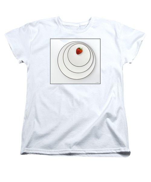 Nonconcentric Strawberry No. 2 Women's T-Shirt (Standard Cut) by Joe Bonita