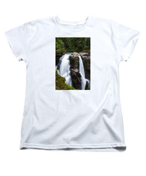 Nooksack Falls Women's T-Shirt (Standard Cut) by Ryan Manuel