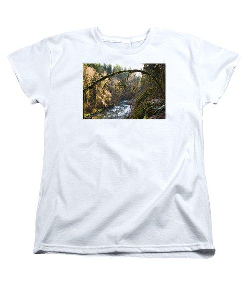 Women's T-Shirt (Standard Cut) featuring the photograph Nooksack River by Yulia Kazansky