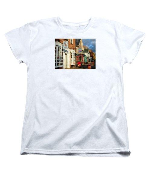 North Conway Village 2 Women's T-Shirt (Standard Cut) by Nancy De Flon