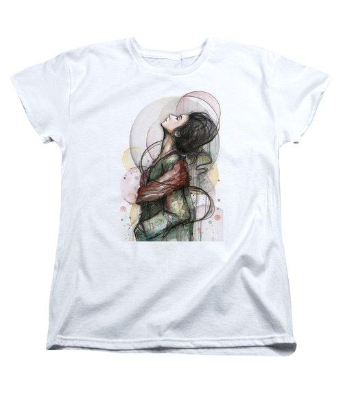 North  Women's T-Shirt (Standard Cut) by Olga Shvartsur