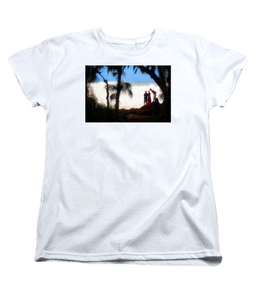 Women's T-Shirt (Standard Cut) featuring the photograph North Shore Wave Spotting by Jim Albritton
