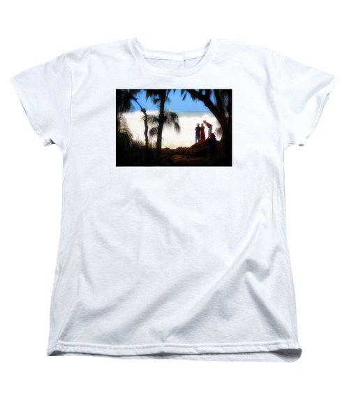 North Shore Wave Spotting Women's T-Shirt (Standard Cut) by Jim Albritton