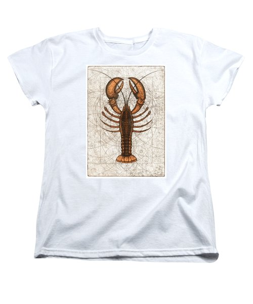 Northern Lobster Women's T-Shirt (Standard Cut) by Charles Harden