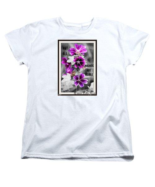 Women's T-Shirt (Standard Cut) featuring the digital art Not All Wounds by Holley Jacobs
