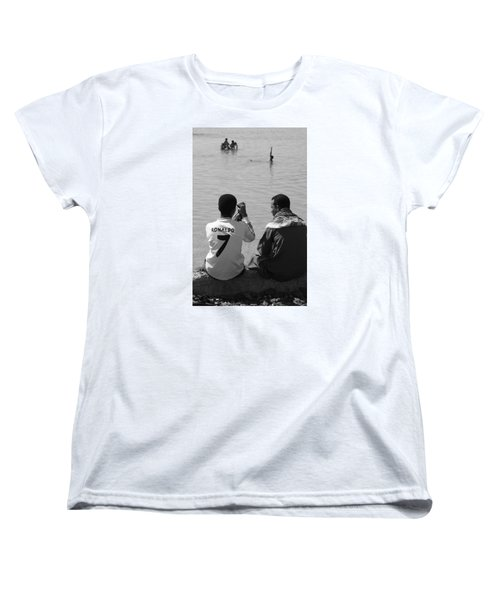 Not Waving But Drowning Women's T-Shirt (Standard Cut) by Jez C Self