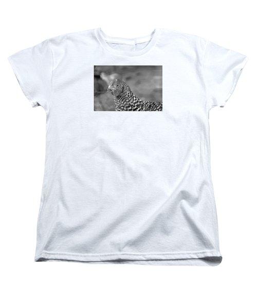 Women's T-Shirt (Standard Cut) featuring the photograph Not Your Chicken Dinner by Lora Lee Chapman