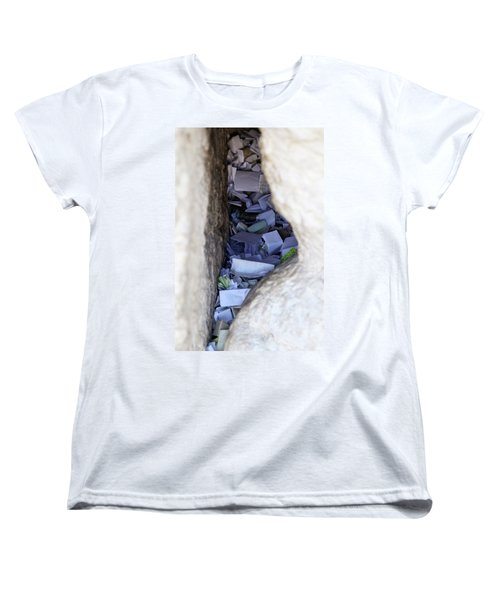 Women's T-Shirt (Standard Cut) featuring the photograph Notes In The Wailing Wall  by Yoel Koskas