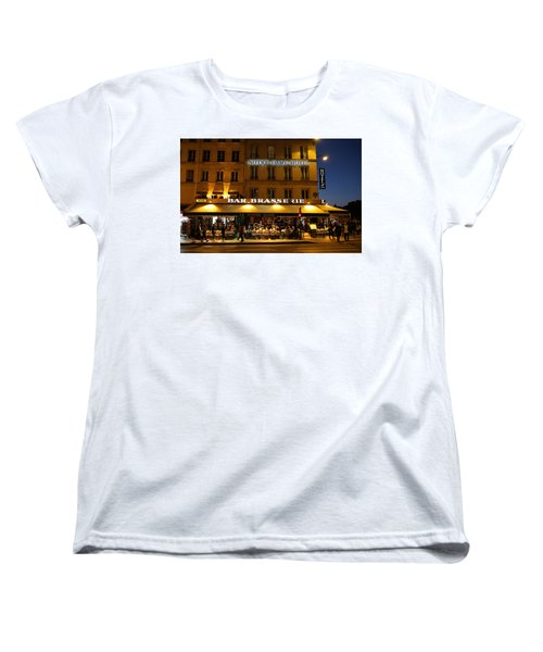 Women's T-Shirt (Standard Cut) featuring the photograph Notre Dame Cafe by Andrew Fare