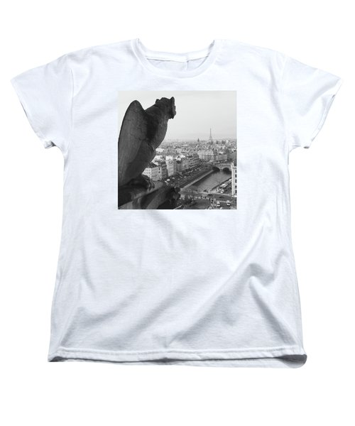 Women's T-Shirt (Standard Cut) featuring the photograph Notre Dame Gargoyle by Victoria Lakes