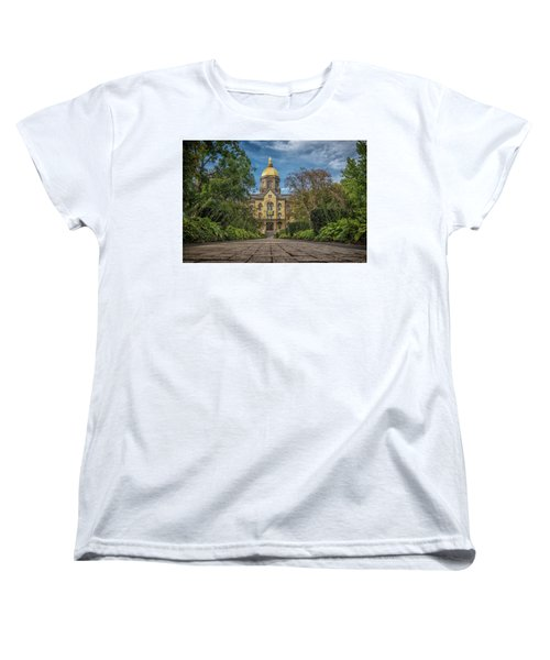 Notre Dame University Q1 Women's T-Shirt (Standard Cut) by David Haskett