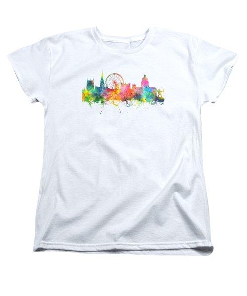 Nottingham  England Skyline Women's T-Shirt (Standard Cut) by Marlene Watson