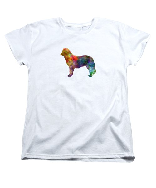 Nova Scotia Duck Tolling Retriever In Watercolor Women's T-Shirt (Standard Cut) by Pablo Romero