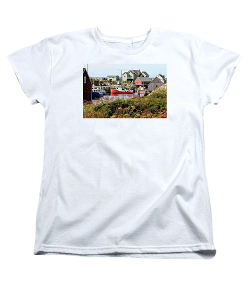 Women's T-Shirt (Standard Cut) featuring the photograph Nova Scotia Fishing Community by Jerry Battle