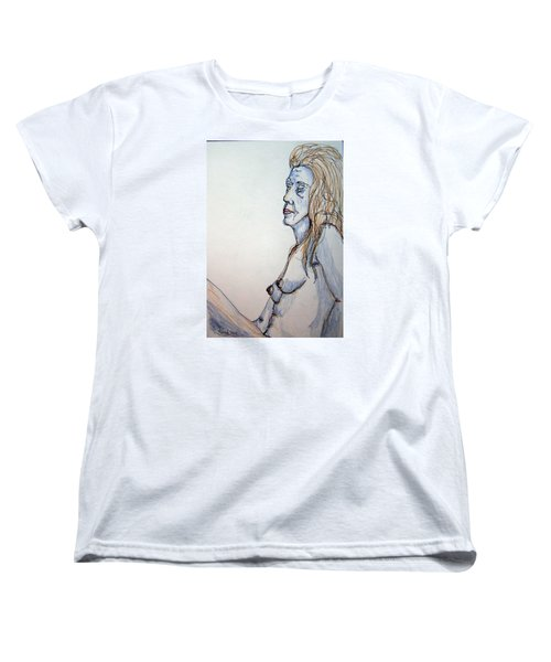 Nude With Blues Women's T-Shirt (Standard Cut) by Rand Swift