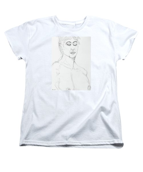 Nude With Eyes Closed Women's T-Shirt (Standard Cut) by Rand Swift