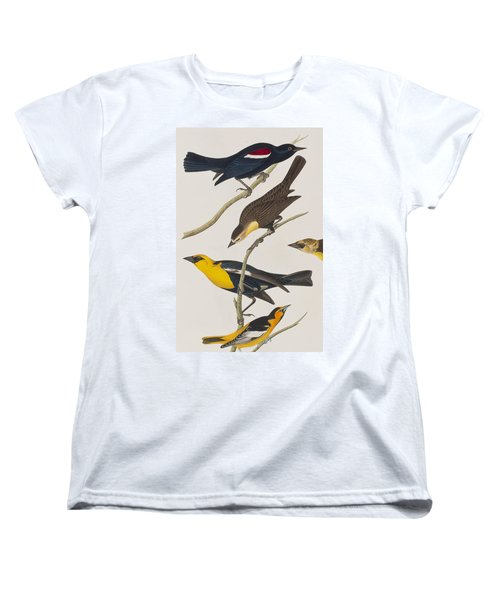 Nuttall's Starling Yellow-headed Troopial Bullock's Oriole Women's T-Shirt (Standard Cut) by John James Audubon