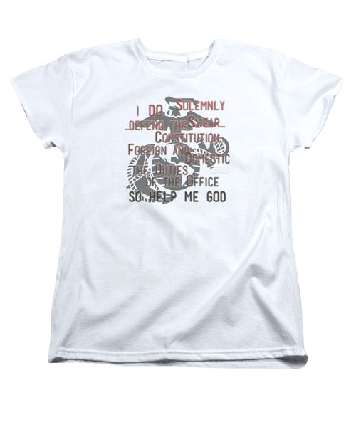 Women's T-Shirt (Standard Cut) featuring the mixed media Oath by TortureLord Art