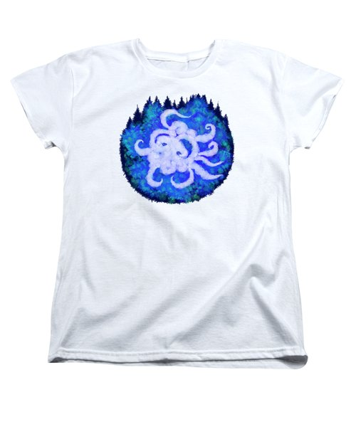 Octopus And Trees Women's T-Shirt (Standard Cut) by Adria Trail